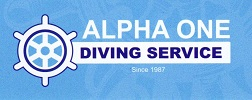 Alpha One Diving Service Logo